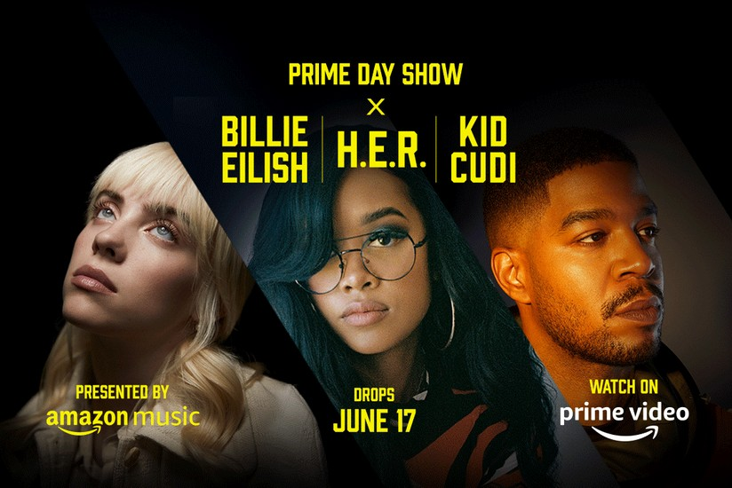Amazon Prime Day Show con Billie Eilish, H.E.R e Kid Cudi